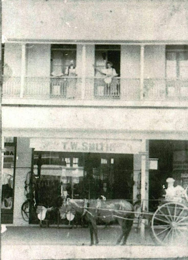 T W Smith saddlery shop, Woolloongabba, Brisbane, circa 1900 - Owned by Thomas Smith, son of Stephen and Maria Smith from Hemmant.