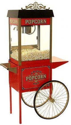 HTD Canada 4 oz Street Vendor Commercial Popcorn Machine With Cart