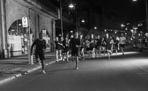 On 19 May 2017, the 6km art-of-street-running event happened on occasion of the release of the new adidas PureBOOST DPR (8mm heel-to-toe offset, wider forefoot for more stability while passing corners, uneven surfaces) under the campaign title 'Hit This Ground Running' together with elite athletes like Olympians Akani Simbine (South Africa) or Wayde Van Niekerk (South Africa) - both on view at the image...