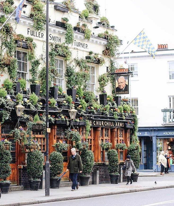 """14k Likes, 82 Comments - Pretty cities of Instagram (@theprettycities) on Instagram: """"This pub and its fantastic #plant_problem 🌿🌱🍃💐great Thai food to boot 💕📸 @rebeccahope"""""""