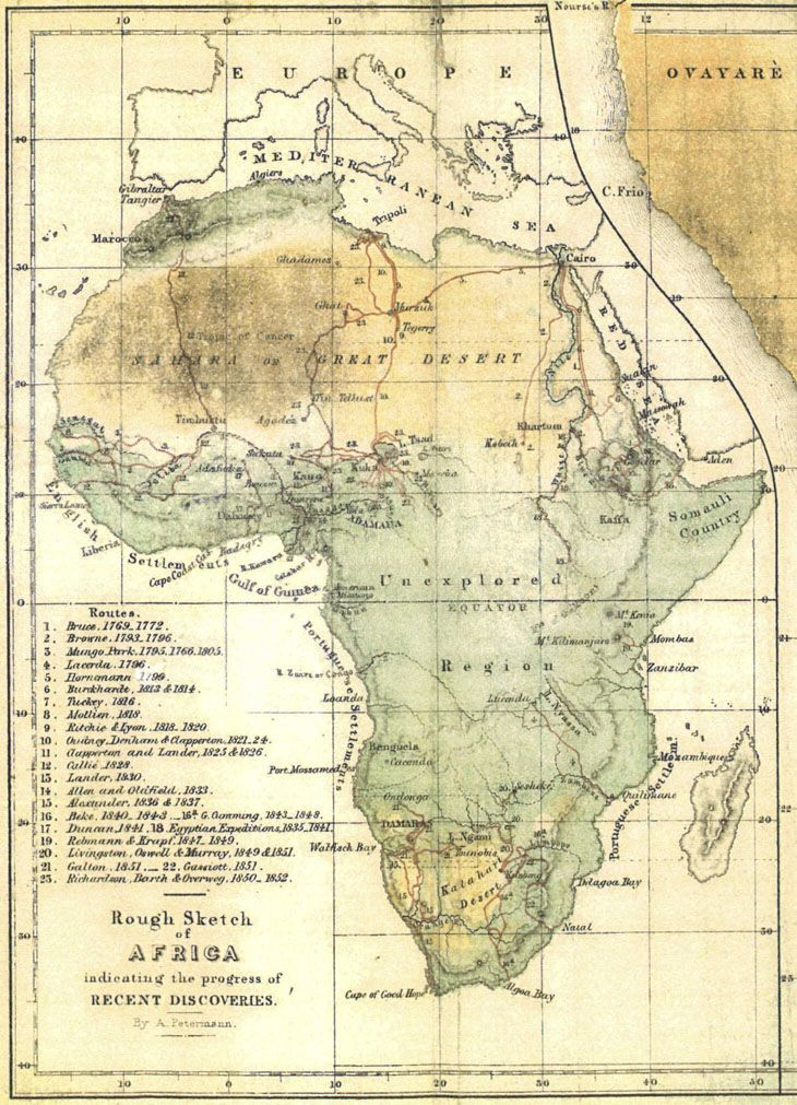 ::Africa They also make maps like this of all kinds of continents. They like surveyors, and their military naval charts are amazing. I think they're even known for finding maps in ruins and using the information to update theirs.