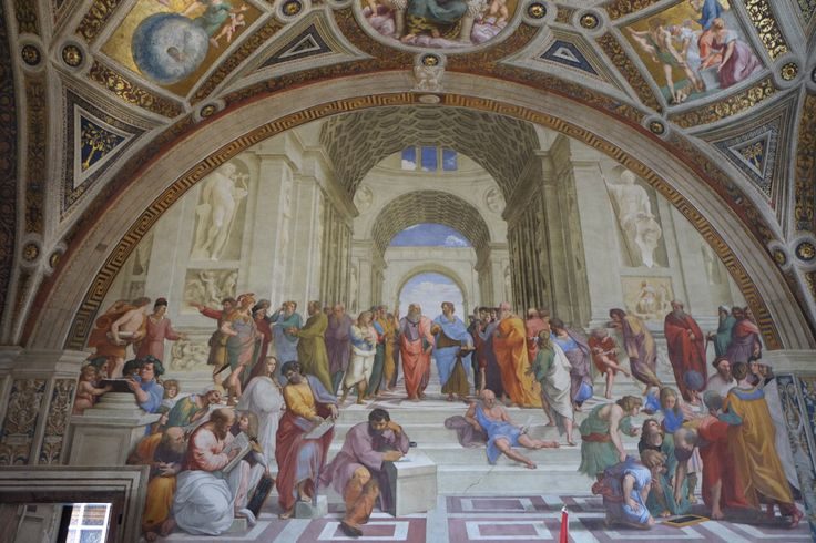 "Rom - La Grande Bellezza - Città del Vaticano Vatikanstadt Die ""Schule von Athen"" von Rafael"