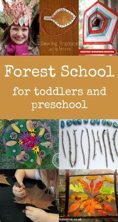 Forest school activities for toddlers and preschool                                                                                                                                                                                 More