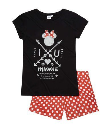 Disney Minnie Short Sleeve Pyjama red