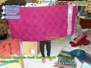 Handuk Magnolia Motif Batik 70x140 Hub: 0895-2604-5767 (Telp/WA)#handukmagnoliamotifbatik70x140 #souvenir #souvenirPernikahan