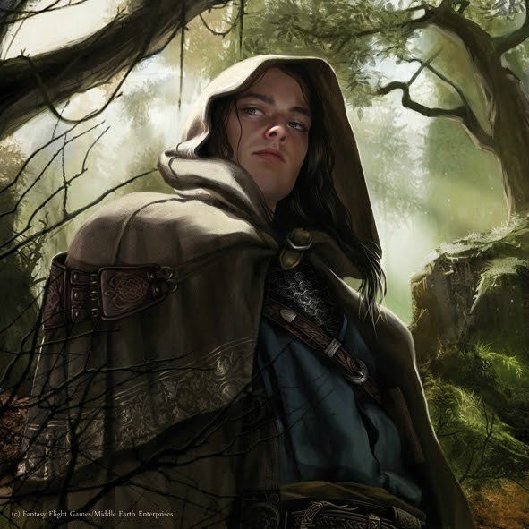 Elladan Lord of the Rings illustrations for the Living Card Game (LCG) published by Fantasy Flight Games Art by Magali Villeneuve