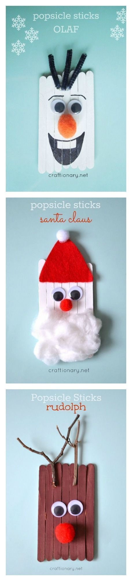 Popsicle stick kids crafts for Christmas