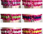 Wedding Garter Sale Fuchsia Pink Wedding Garter, 45 Different Color Choices, Fuchsia Pink Bridal Garter, Prom Garter, Pink Weddings, Custom