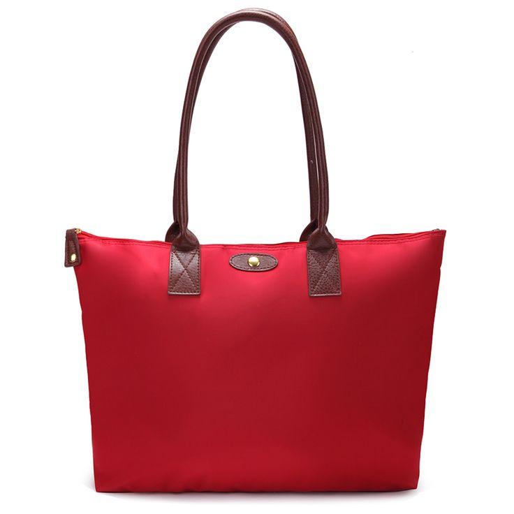 52cm big size Factory Direct Nylon Women Leather Dumpling handbags Folding Shopping shoulder bag travel duffle luggage bags