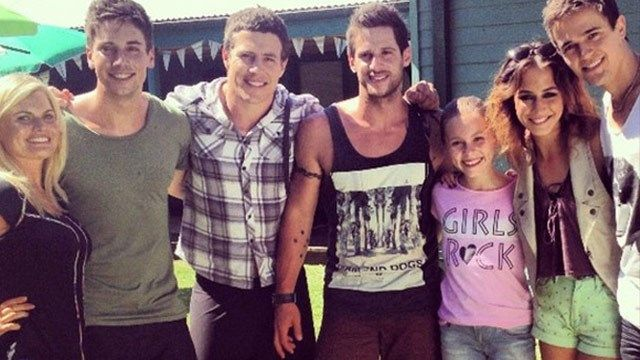Ricky, Casey, Brax, Heath, Darcy, Pheobe and Kyle