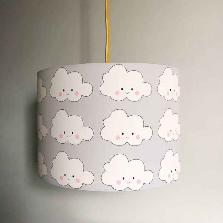 The 25 best cloud lampshade ideas on pinterest cloud lamp diy kawaii cloud handmade childrens lampshade in cloud grey mozeypictures Images