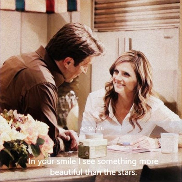 In your smile I see something more beautiful than the stars.  #castle #caskett #caskettmoments #katebeckett #nathanfillion #stanakatic #absentia
