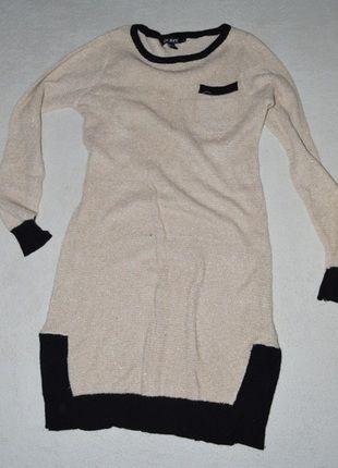 Kup mój przedmiot na #vintedpl http://www.vinted.pl/damska-odziez/dlugie-swetry/11029425-dlugi-sweterek-bezowo-czarny-m