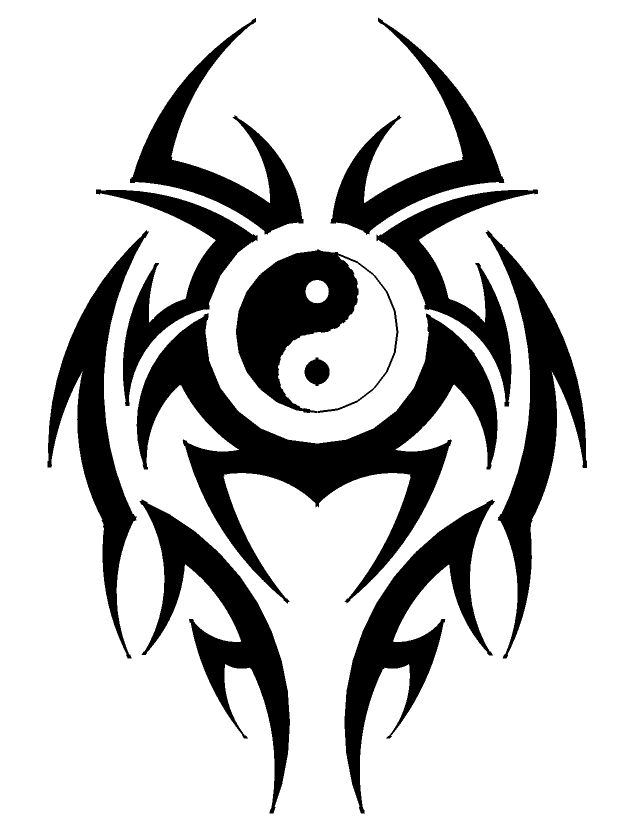 Image result for tribal yin yang tattoos for men