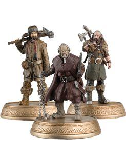 Aproveite, oferta válida por tempo limitado!  A coleção oficial apresenta grandes personagens dos três filmes de O Hobbit. Cada miniatura pintada à mão, representada em uma pose original de um momento clássico em escala 1:25.<br/> <br/> Criado em resina metálica, trajes e armas são reproduzidas com ricos detalhes. Cada miniatura é aprovada oficialmente pela Warner Bros para garantir a autenticidade total.<br/> <br/> Kit com  4 personagens