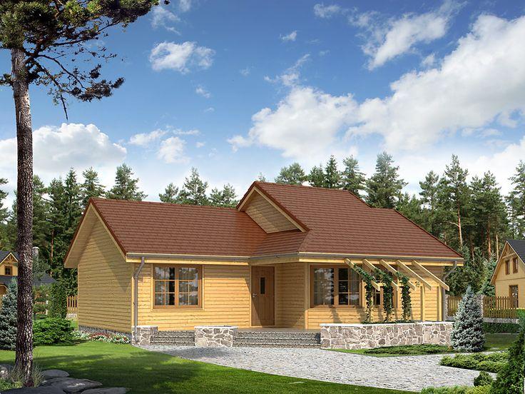 Szyper dr-S to parterowy domek letniskowy lub mieszkalny charakteryzujący się ciekawą bryłą i układem pomieszczeń. Pełna prezentacja projektu dostępna jest na stronie: http://www.domywstylu.pl/projekt-domu-szyper_dr-s.php. #szyper #domywstylu #mtmstyl #domyrekreacyjne #domyletniskowe #projektygotowe #domydrewniane