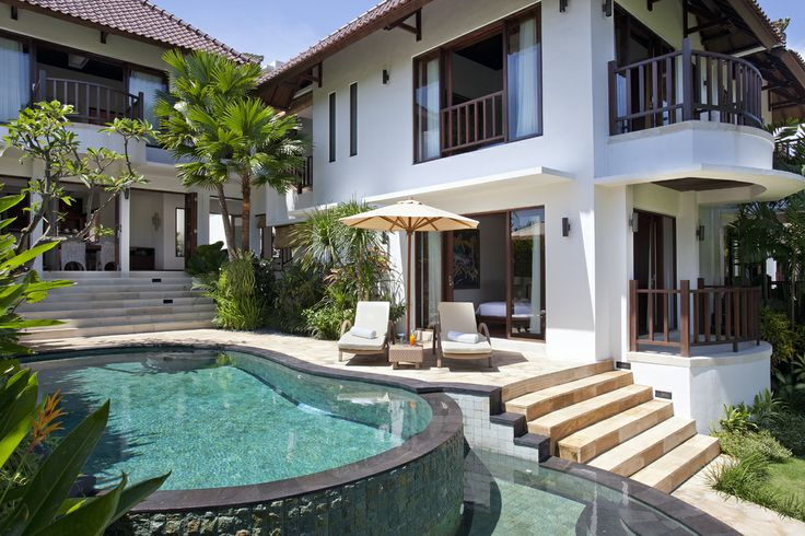 Front view of the two bedroom villa at Canggu Terrace Bali