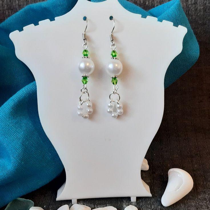 Classy pearl dangle drop earrings mothers day gift