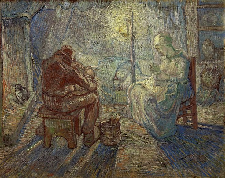 Вечер (копия Милле). Винсент Ван Гог. Музей ван Гога, Амстердам (Van Gogh Museum, Amsterdam). 1889
