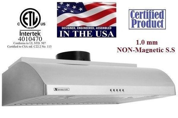 "XtremeAir Ultra Series UL14-U30, 30"" Under cabinet hood"