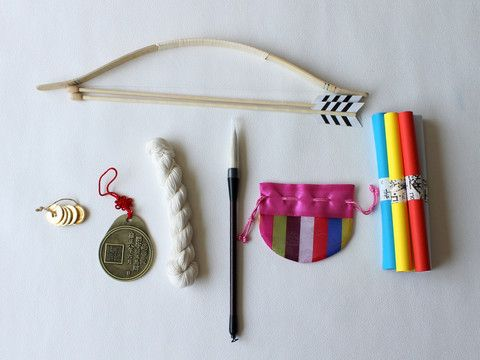 Traditional doljabi items to use at your first birthday party!