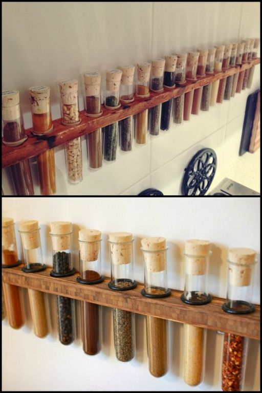 Turn your kitchen into a lab and enjoy cooking more with this DIY test tube spice rack!