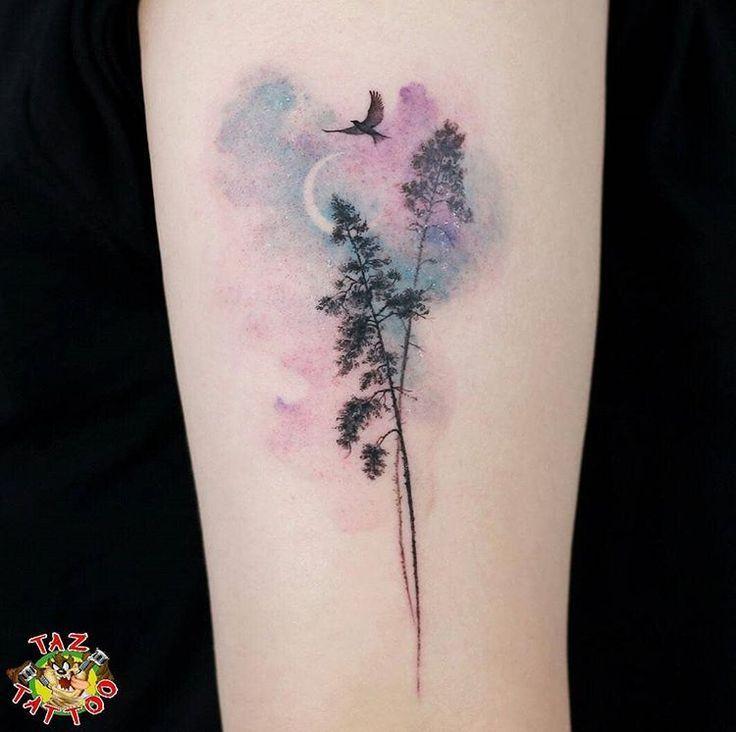 Comme La Coloration De L Aquarelle Pour Les Nuages Aquarell Tattoo
