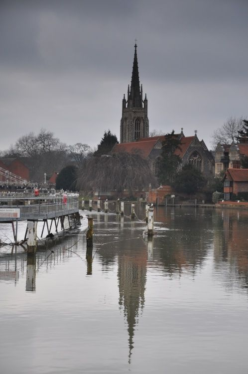 Marlow Church - hire a boat and go for a row up the river. My Stockbridge ancestors married, baptised and buried here.