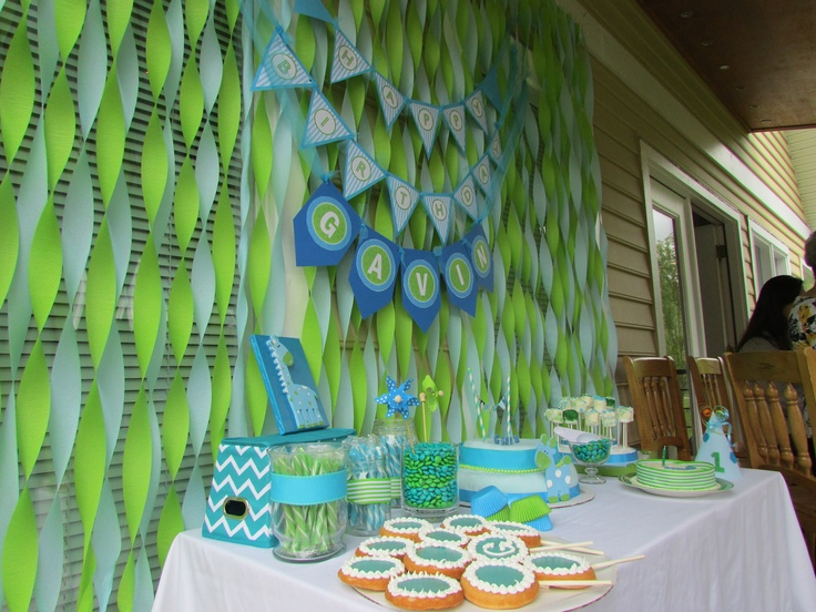100+ best Baby first birthday images by Danielle Brown on Pinterest - blue and green birthday party