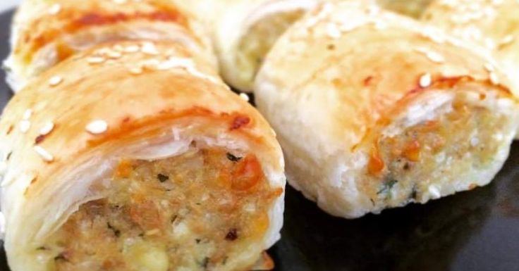 CHICKEN AND CHEESE SAUSAGE ROLLS