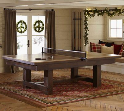 14 best ping pong as dining room table images on pinterest for Pottery barn poker table