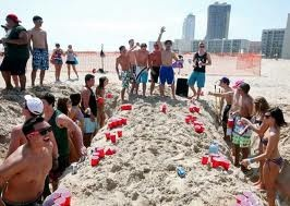 Beach Beer Pong!- SPRING BREAK PCB,FL 2005 and 2006?
