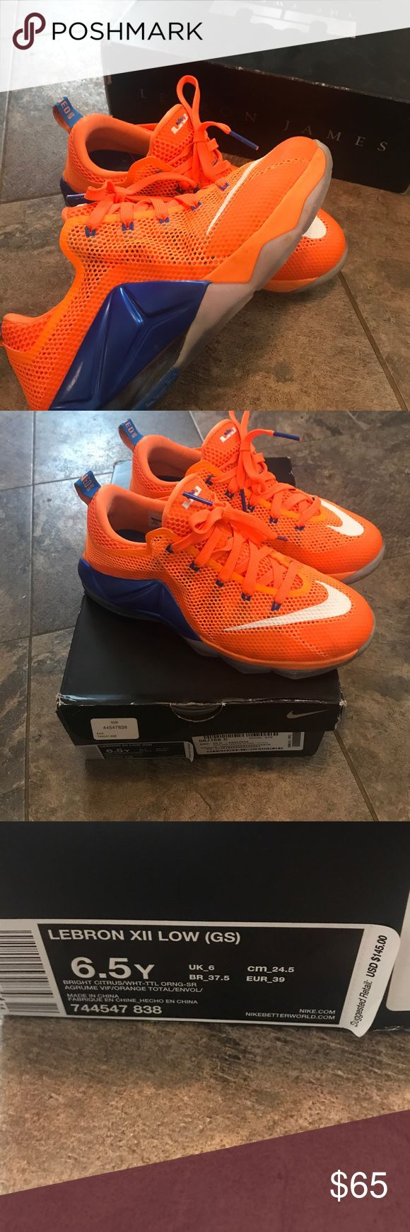 Lebron XII Low - Denver Bronco Colors Excellent condition! Only worn a handful of times Nike Shoes Sneakers