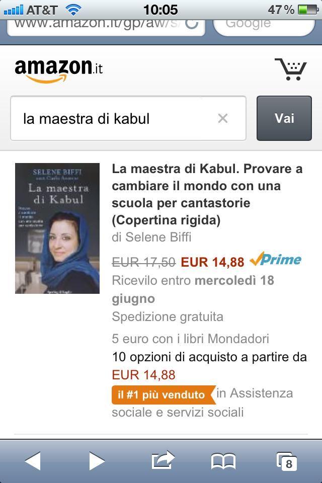 Il libro di Selene Biffi e Carlo Annese, che racconta la storia di The Qessa Academy a Kabul, è il più venduto su Amazon nella rispettiva sezione tematica!