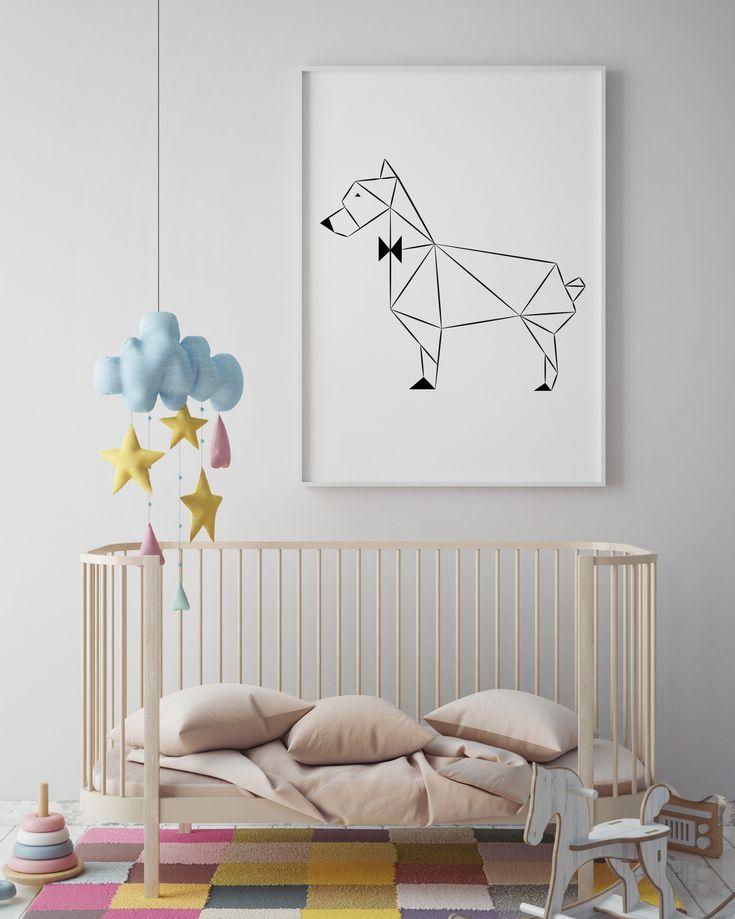 Art Print Origami Design | DOG