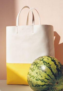 Celine White:Sun Bicolor Cabas Bag #celine #handbags | Celine ...