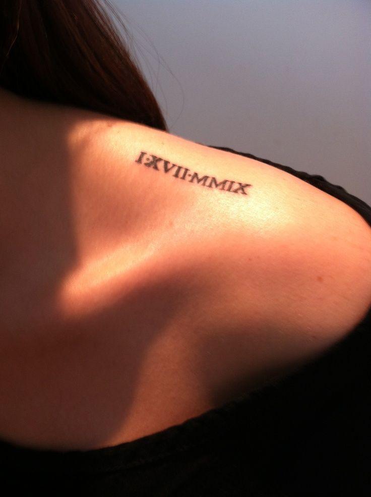 tattoo men roman chiffres arm - Google zoeken