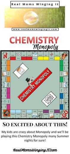We are SO excited about this FREE Chemistry Monopoly Board Game! Kids will play the game and learn about different Elements and so much more! See full instructions on how to make one here!