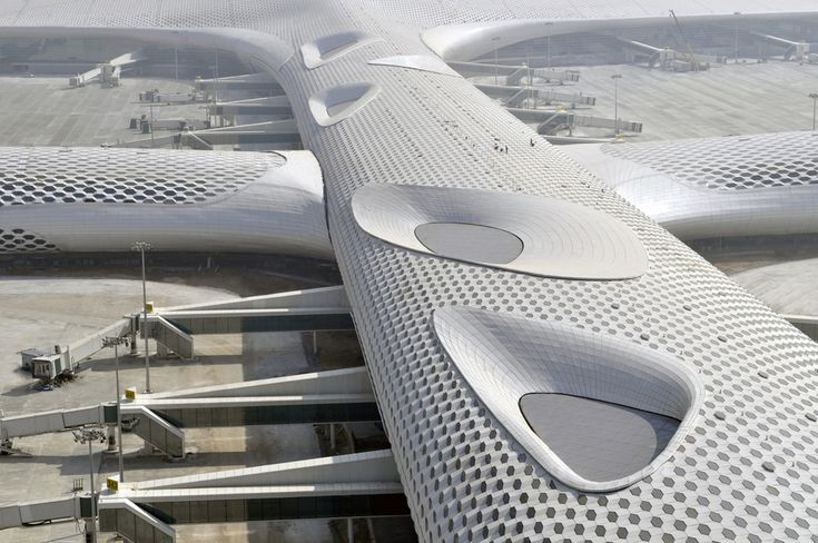 Bao'an International Airport - A manta ray built out of steel and glass