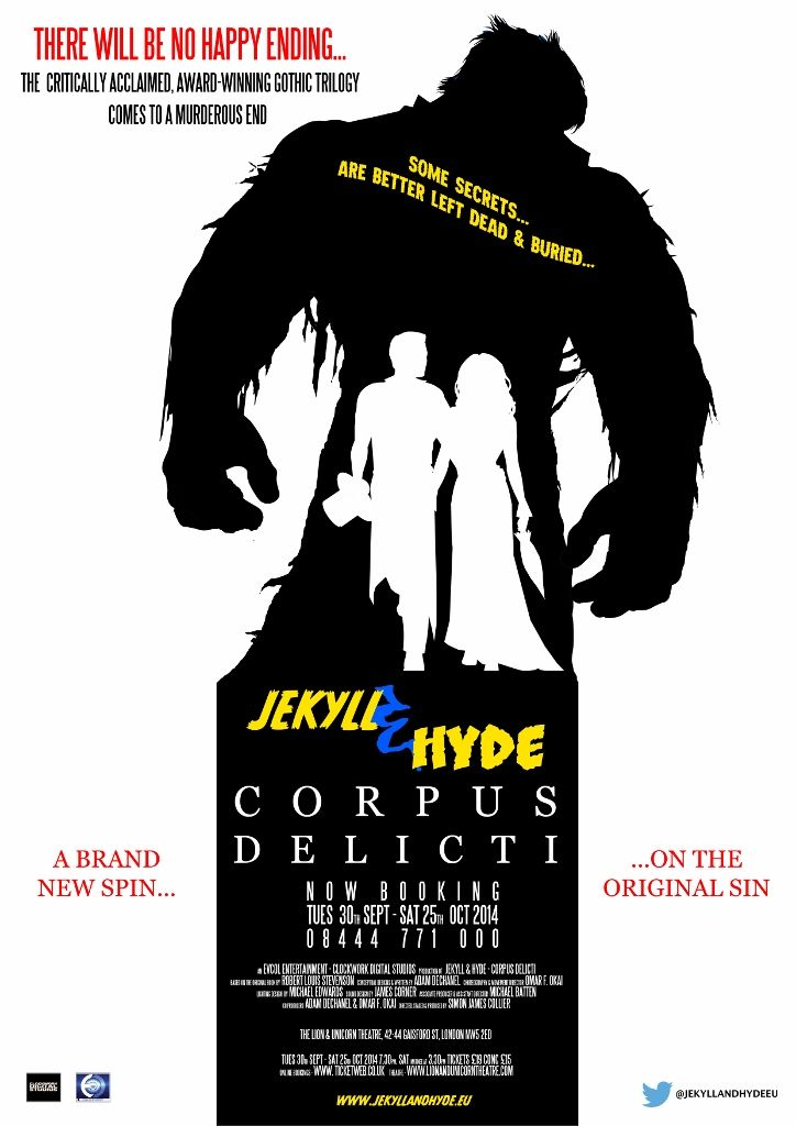 Jekyll and Hyde production poster - London - 2014