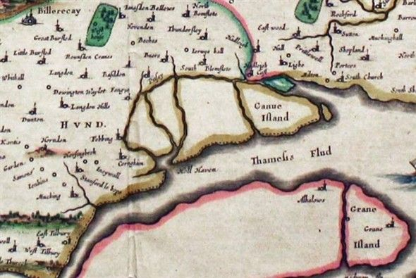 Photo: Illustrative image for the 'Map of Canvey Island 1648' page