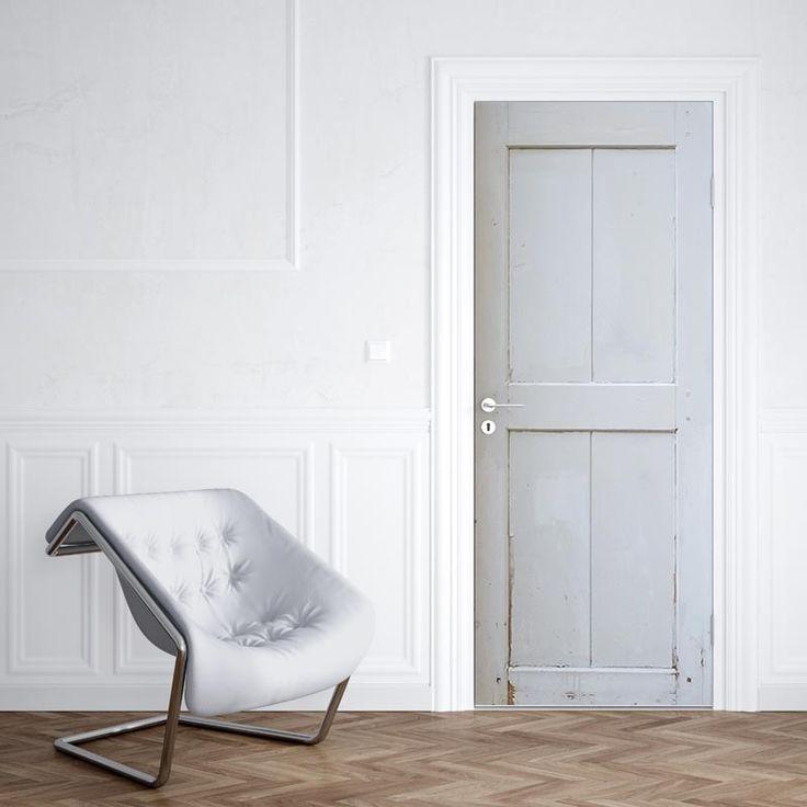 Deursticker wit hout patroon 2 | Heb je ook zo'n saaie deur en geen zin om met verf en kwasten aan de slag te gaan, bespaar je de moeite en kies voor een deursticker op maat! De deurstickers zijn ook ideaal voor oude, vergeelde deuren.#deursticker #sticker #deur #trend #interieur #printerior #interieurprint #opmaat #maatwerk #mat #glanzend #hout #houten #planken #steigerhout #wit
