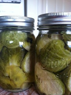 Pickling Brussels Sprouts (could be used for carrots, cauliflower, asparagus or artichoke as well)