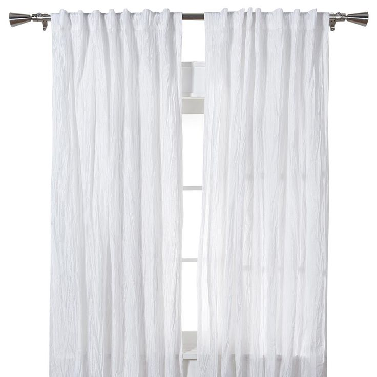 "Set of 2 Crinkled Curtains - Length 84""/Set of 2/Curtains/Windows