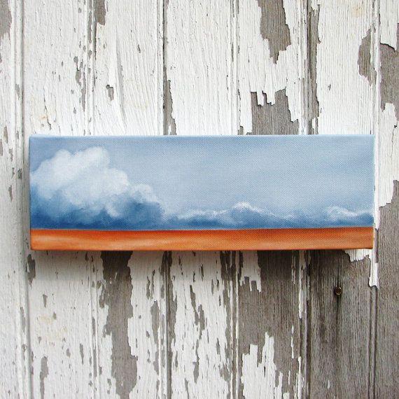 Cloud Landscape original oil painting wall art by Stormscapestudio, $90.00