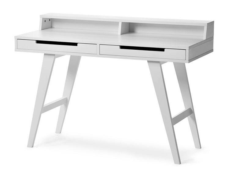 Skrivbord i retrostil. Praktiskt med två lådor samt hylla i bakkanten