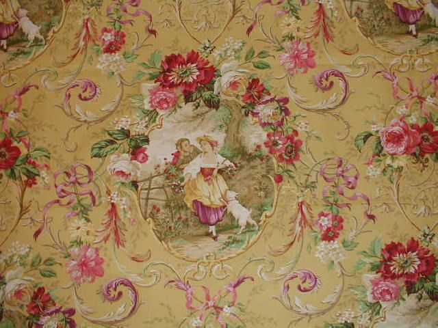 8 best victorian wallpaper images on pinterest victorian for Victorian floral fabric