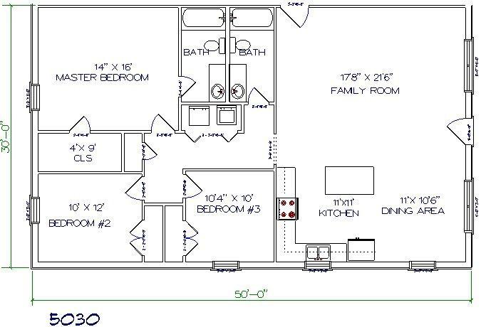 25 best ideas about barndominium floor plans on pinterest for 3 bedroom barndominium floor plans