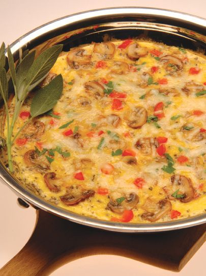 Easy Mushroom and Cheese Frittata | Mouthwatering | Pinterest