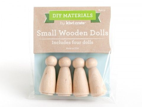 Small Wooden Dolls - Supplies - DIY Materials | Kids Crafts & Activities for Children | Kiwi Crate $4.95
